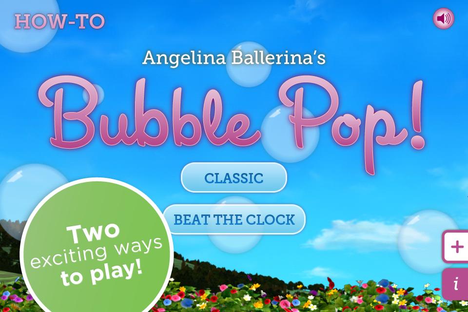 Screenshot Angelina Ballerina's Bubble Pop Game
